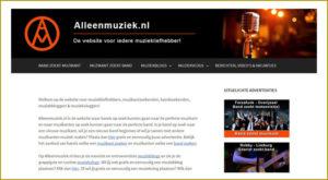 Website Alleenmuziek.nl