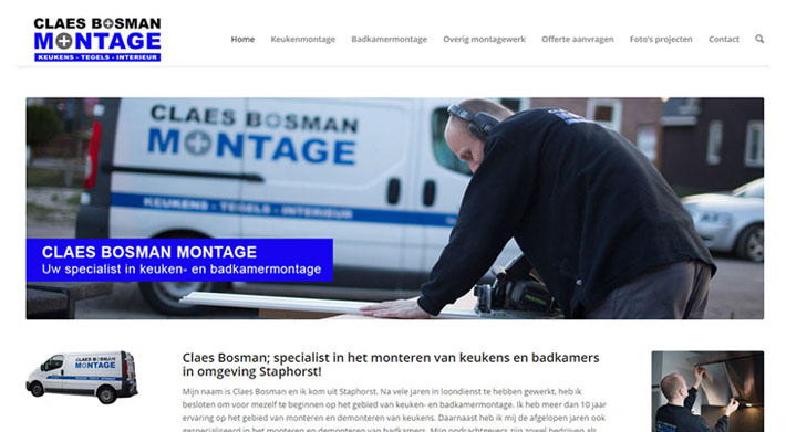 Website Claes Bosman Montage